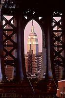 "#JP0566 ""Empire State Bldg & Manhattan Bridge - New York"