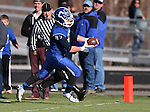 Carson's Seamus Burns scores against Reed during the NIAA D-1 Northern Regional title game at Bishop Manogue High School in Reno, Nev., on Saturday, Nov. 29, 2014. Reed won 28-25.<br /> Photo by Cathleen Allison