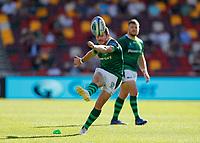 5th June 2021; Brentford Community Stadium, London, England; Gallagher Premiership Rugby, London Irish versus Wasps; Paddy Jackson of London Irish scores with a conversion kick
