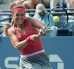Victoria Azarenka (BLR) defeats Alize Cornet (FRA) 6-7, 6-3, 6-2 at the US Open being played at USTA Billie Jean King National Tennis Center in Flushing, NY on August 31, 2013