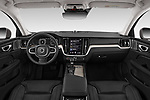 Stock photo of straight dashboard view of a 2020 Volvo V60 Inscription 5 Door Wagon