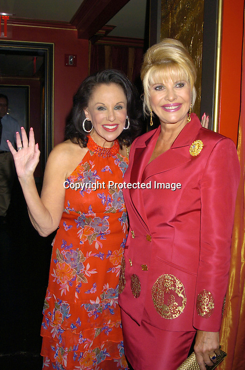 Nikki Haskell and Ivana Trump ..at a party at Club Fizz  for Ivana Trumps new Condominium in Las Vegas called Ivana Las Vegas on August 17, 2005...Photo by Robin Platzer, Twin Images