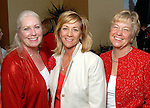 Karen Sponsel, Chris Sanders and Adrian Ross at the American Heart Association Go Red for Women luncheon at the InterContinental Houston Monday May 04,2009.  (Dave Rossman/For the Chronicle)
