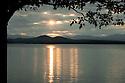 Postcard perfect, sunset over Lake Champlain.