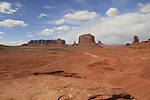 Park road and view of Monument Valley from John Ford Overlook, Arizona, USA. . John offers private photo tours in Monument Valley and throughout Arizona, Utah and Colorado. Year-round.
