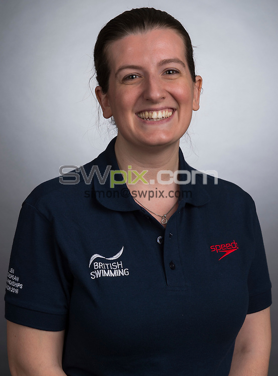 Picture by Alex Broadway/SWpix.com - 23/05/2016 - Swimming - Great Britain Olympic Swimming Squad Portraits - Holiday Inn Stratford, London, England - Gemma Field.