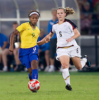 Ester, Amy Rodriguez. The USWNT defeated Brazil, 1-0, to win the gold medal during the 2008 Beijing Olympics at Workers' Stadium in Beijing, China.