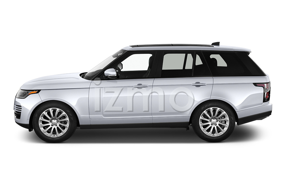 Car Driver side profile view of a 2020 Land Rover Range-Rover HSE 5 Door SUV Side View