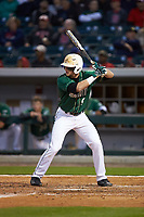 Brett Netzer (9) of the Charlotte 49ers at bat against the North Carolina State Wolfpack at BB&T Ballpark on March 29, 2016 in Charlotte, North Carolina. The Wolfpack defeated the 49ers 7-1.  (Brian Westerholt/Four Seam Images)