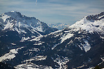 Ciampac Ski Area in the Dolomites, Canazei, Italy,