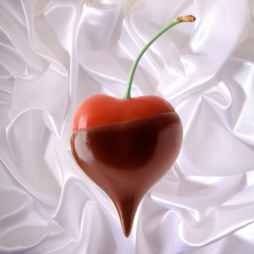 Chocolate covered cherry heart.