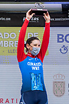 Lisa Brennauer (GER) CERATIZIT-WNT Pro Cycling Team wins Stage 2 of the CERATIZIT Challenge by La Vuelta 2020, an individual time trial running 9.3km around Boadilla del Monte, Spain. 6th November 2020.<br /> Picture: Antonio Baixauli López/BaixauliStudio | Cyclefile<br /> <br /> All photos usage must carry mandatory copyright credit (© Cyclefile | Antonio Baixauli López/BaixauliStudio)