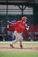 Philadelphia Phillies Bryson Stott (10) at bat during an Instructional League game against the Toronto Blue Jays on September 27, 2019 at Englebert Complex in Dunedin, Florida.  (Mike Janes/Four Seam Images)