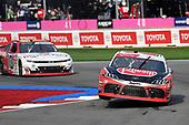#20: Christopher Bell, Joe Gibbs Racing, Toyota Supra Rheem-Gemaire, #10: A.J. Allmendinger, Kaulig Racing, Chevrolet Camaro Digital Ally
