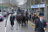 2020 12 29 Jayne Carpenter Funeral at St. Tydfil's Old Parish Church in Merthyr Tydfil, Wales, UK.