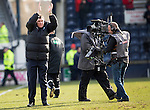 Raith Rovers v St Johnstone....08.03.14    Scottish Cup Quarter Final<br /> Tommy Wright applauds at full time<br /> Picture by Graeme Hart.<br /> Copyright Perthshire Picture Agency<br /> Tel: 01738 623350  Mobile: 07990 594431