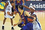 League ACB-ENDESA 2020/2021 - Game: 1.<br /> Barça vs Hereda San Pablo Burgos: 89-86.<br /> Thomas Heurtel vs Thad McFadden.