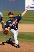 Dustin Birosak of the Cal State Fullerton Titans during a game against the Stanford Cardinal at Goodwin Field on February 4, 2007 in Fullerton, California. (Larry Goren/Four Seam Images)