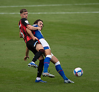 (Blackburn Rovers' Lewis Holtby (right) is tackled from behind by Bournemouth's Chris Mepham (left) <br /> <br /> Photographer David Horton/CameraSport <br /> <br /> The EFL Sky Bet Championship - Bournemouth v Blackburn Rovers - Saturday September 12th 2020 - Vitality Stadium - Bournemouth<br /> <br /> World Copyright © 2020 CameraSport. All rights reserved. 43 Linden Ave. Countesthorpe. Leicester. England. LE8 5PG - Tel: +44 (0) 116 277 4147 - admin@camerasport.com - www.camerasport.com