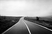 Slovakia Republic.July 1997.The road East into the Slovakian Republic..