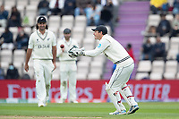 B J Watling of New Zealand collects during India vs New Zealand, ICC World Test Championship Final Cricket at The Hampshire Bowl on 19th June 2021