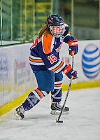 4 January 2014:  Syracuse University Orange defender Kaillie Goodnough, a Junior from Mannsville, NY, in action against the University of Vermont Catamounts, in non-conference play at Gutterson Fieldhouse in Burlington, Vermont. The Orange defeated the UVM Lady Cats 4-3 in their first ever NCAA meeting. Mandatory Credit: Ed Wolfstein Photo *** RAW (NEF) Image File Available ***