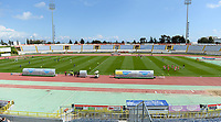 20190304 - LARNACA , CYPRUS : illustration picture shows the GSZ Stadium during a women's soccer game between Slovakia and Austria , on Monday 4 th March 2019 at the GSZ Stadium in Larnaca , Cyprus . This is the third and last game in group C for both teams during the Cyprus Womens Cup 2019 , a prestigious women soccer tournament as a preparation on the Uefa Women's Euro 2021 qualification duels. PHOTO SPORTPIX.BE | DAVID CATRY
