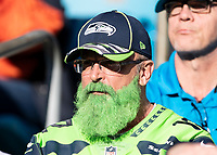 CHARLOTTE, NC - DECEMBER 15: Seattle Seahawks fan during a game between Seattle Seahawks and Carolina Panthers at Bank of America Stadium on December 15, 2019 in Charlotte, North Carolina.