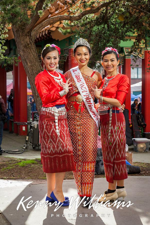 Thai Cultural Society, Chinese New Year 2018, Chinatown, Seattle, WA, USA.