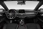 Stock photo of straight dashboard view of 2021 KIA Forte GT 4 Door Sedan Dashboard