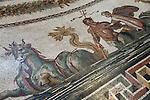Italy, Lazio, Rome - Vatican City State: Roman Mosaic on floor of the Sala Rotonda (Museo Pio Clementino) in the Vatican Museum | Italien, Latium, Rom - Vatikanstadt: roemisches Bodenmosaik im Sala Rotonda (Museo Pio Clementino) der Vatikanischen Museen