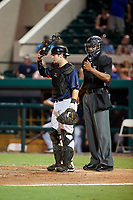 Umpire Jose Navas and Daytona Tortugas catcher Chris Okey (39) during the Florida State League All-Star Game on June 17, 2017 at Joker Marchant Stadium in Lakeland, Florida.  FSL North All-Stars defeated the FSL South All-Stars  5-2.  (Mike Janes/Four Seam Images)