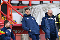 Stevenage FC Manager Alex Revell during Stevenage vs Barrow, Sky Bet EFL League 2 Football at the Lamex Stadium on 27th March 2021