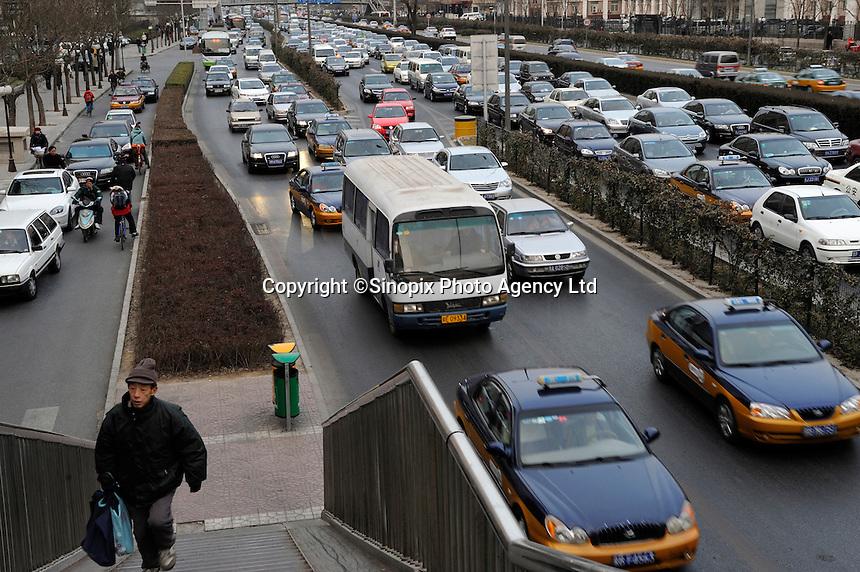 Traffic Jam in Beijing, China..20 Dec 2008