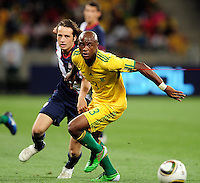 Tsepo Masilela of South Africa during the  Soccer match between South Africa and USA played at the Greenpoint in Cape Town South Africa on 17 November 2010.