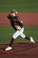 Valparaiso Crusaders starting pitcher Easton Rhodehouse (10) in action against the Western Kentucky Hilltoppersat Nick Denes Field on March 19, 2021 in Bowling Green, Kentucky. (Brian Westerholt/Four Seam Images)