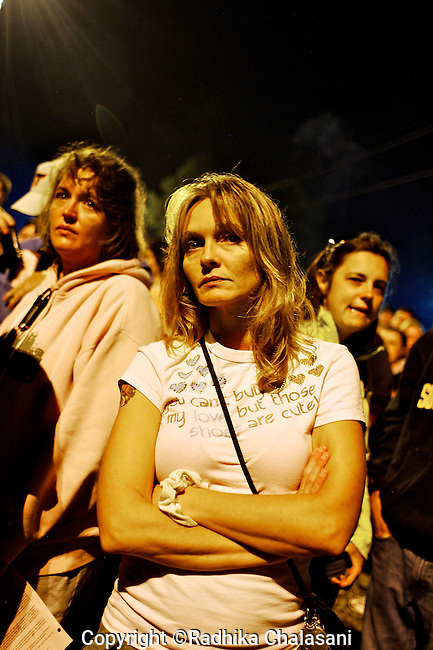 WISE, VIRGINIA-JULY 25: People wait in the early hours of the morning to enter the Virginia-Kentucky Fairgrounds for free medical care from the Remote Area Medical Expedition (RAM) in the heart of the Appalachian mountains July 25, 2009. Many slept overnight  in their cars, trucks, RVS or in tents. The two and half-day event helped provide health care for 2,715 people, uninsured or underinsured with unaffordable co-pays or high deductibles for their insurance policies. RAM has been holding the event here for ten years. Organizers estimate that they provide over $1.6 million USD worth of care.