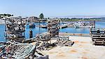 Small boaat harbor, marina, in Tokeland, WA, located on Willapa Bay at Toke Point.