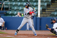 Tennessee Smokies outfielder Rubi Silva #24 during a game against the Huntsville Stars on April 16, 2013 at Joe W Davis Municipal Stadium in Huntsville, Alabama.  Tennessee defeated Huntsville 4-3.  (Mike Janes/Four Seam Images)
