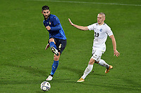 Roberto Gagliardini of Italy and Pavel Marin of Estonia during the friendly football match between Italy and Estonia at Artemio Franchi Stadium in Firenze (Italy), November, 11th 2020. Photo Andrea Staccioli/ Insidefoto