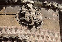 Europe/France/Auvergne/63/Puy-de-Dôme/Issoire: Eglise Saint-Austremoine (XIIème xiècle) - Détail du chevet représentant les signes du Zodiaque