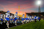 Buffalo Bulls football team warms up at Ladd-Peebles Stadium for their Dollar General game against the Troy Trojans in Mobile, AL. December 22, 2018.