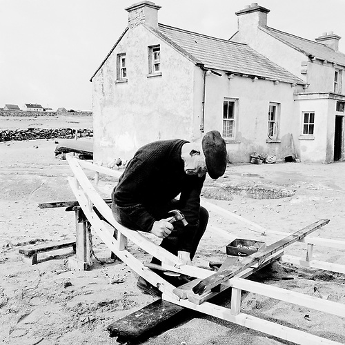Michael Conneely made currachs for people on the other two Aran Islands as well as the mainland and had the craft well-honed