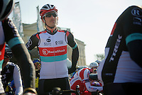 111th Paris-Roubaix 2013..Fabian Cancellara (CHE) at the start in Compiègnes.