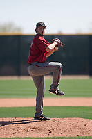 Arizona Diamondbacks relief pitcher Josh Taylor (50) prepares to deliver a pitch during a Minor League Spring Training intrasquad game at Salt River Fields at Talking Stick on March 12, 2018 in Scottsdale, Arizona. (Zachary Lucy/Four Seam Images)