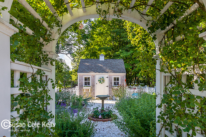A summer garden in Sandwich, Cape Cod, MA