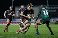 27th December 2020 | Connacht  vs Ulster <br /> <br /> Nick Timoney runs at John Porch during the Guinness PRO14 match between Connacht and Ulster at The Sportsground in Galway. Photo by John Dickson/Dicksondigital