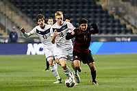 Chester, PA - Friday December 08, 2017: Nate Shultz, Amir Bashti The Stanford Cardinal defeated the Akron Zips 2-0 during an NCAA Men's College Cup semifinal match at Talen Energy Stadium.