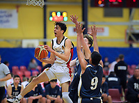 Action from the 2019 Schick AA Boys' Secondary Schools Basketball Premiership National Championship match between Hamilton Boys' High School and Tauranga Boys' College at the Central Energy Trust Arena in Palmerston North, New Zealand on Monday, 30 September 2019. Photo: Dave Lintott / lintottphoto.co.nz