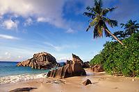 Seychelles, La Digue Island, Anse Patates.<br />